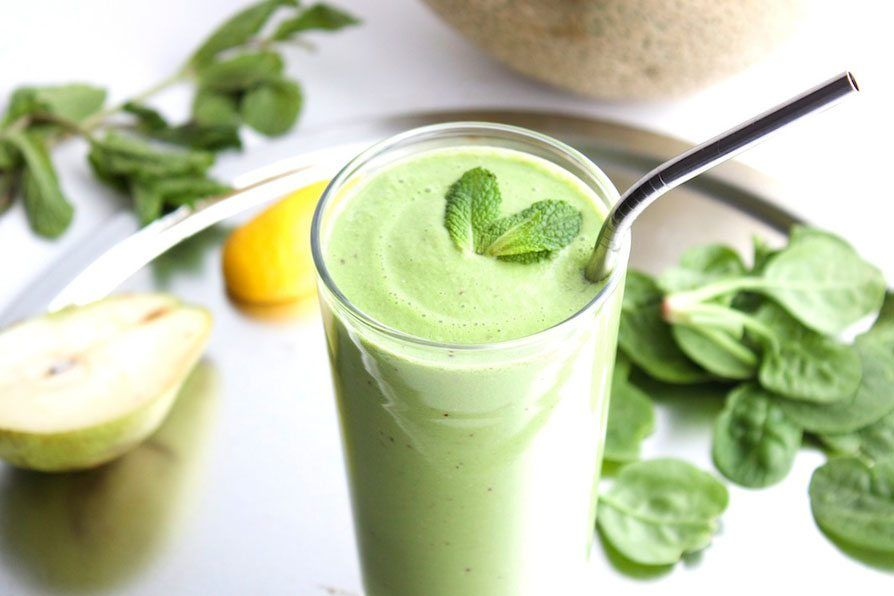 A healthy mint smoothie